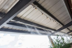 What is the working principle of outdoor cooling spray equipment